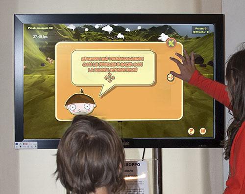 installazione gioco nel Museo della vallesplugae val sangiacomo