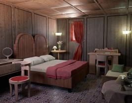stua stanza rivestita in legno